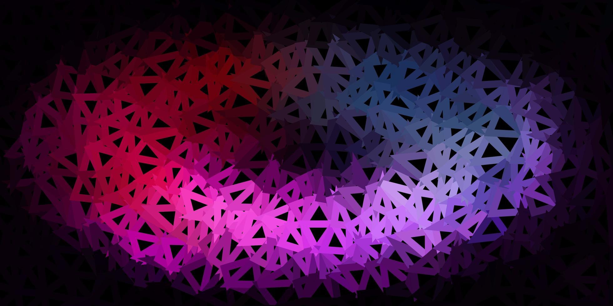 diseño de mosaico de triángulo de vector verde oscuro.