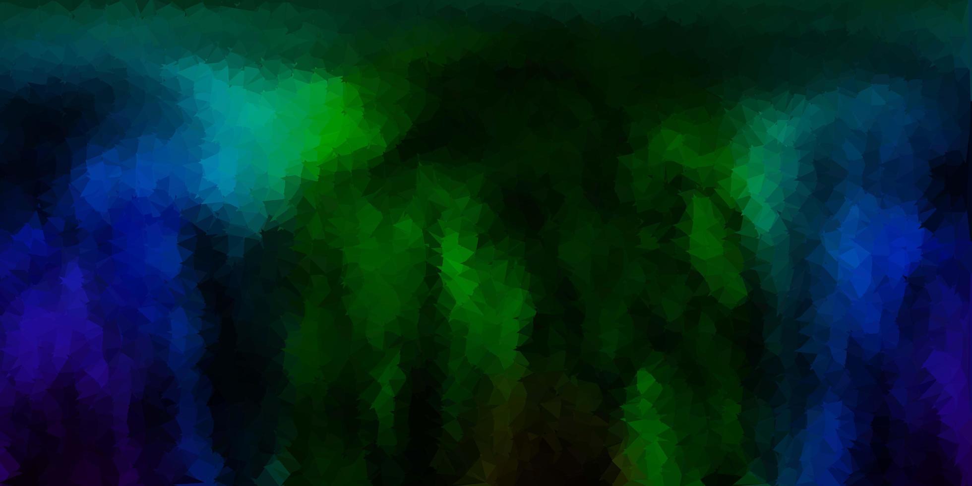 textura de triángulo abstracto vector azul oscuro, verde.