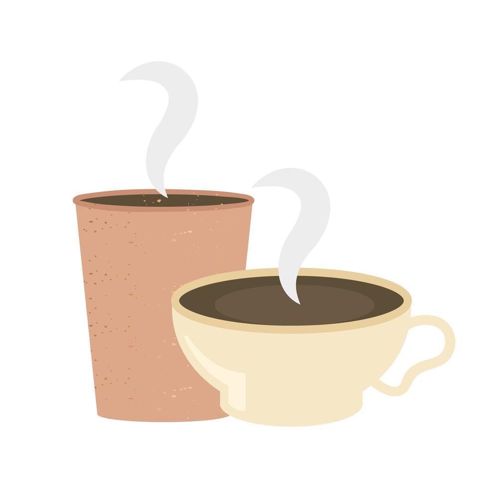 taza de café y diseño vectorial de taza vector