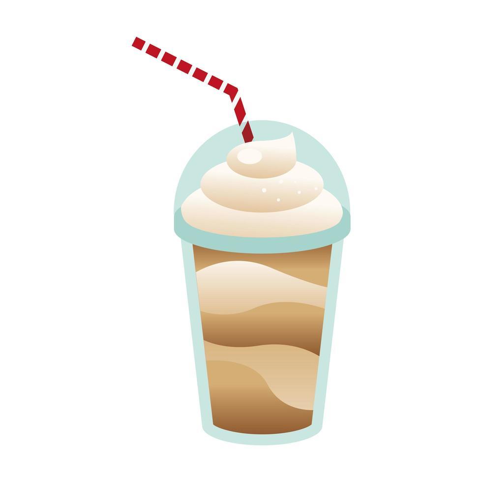 taza de café con diseño vectorial crema vector