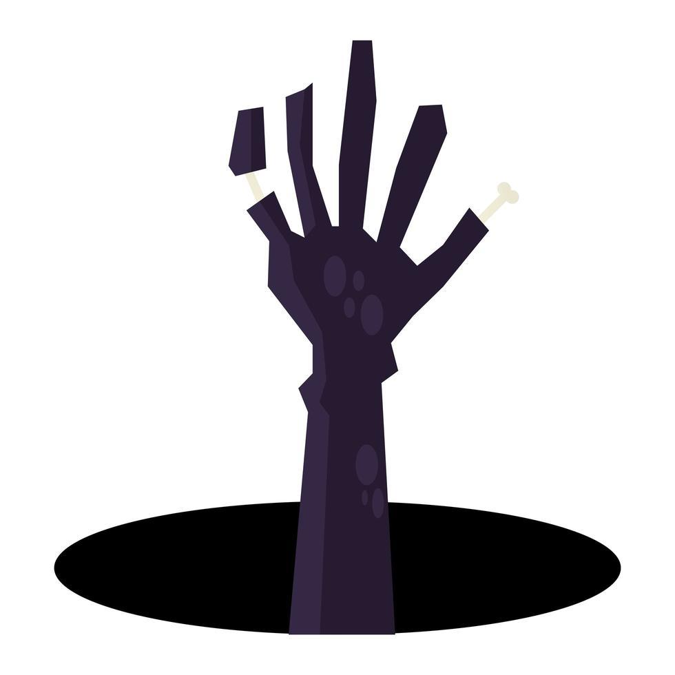 diseño de vector de mano de zombie de halloween