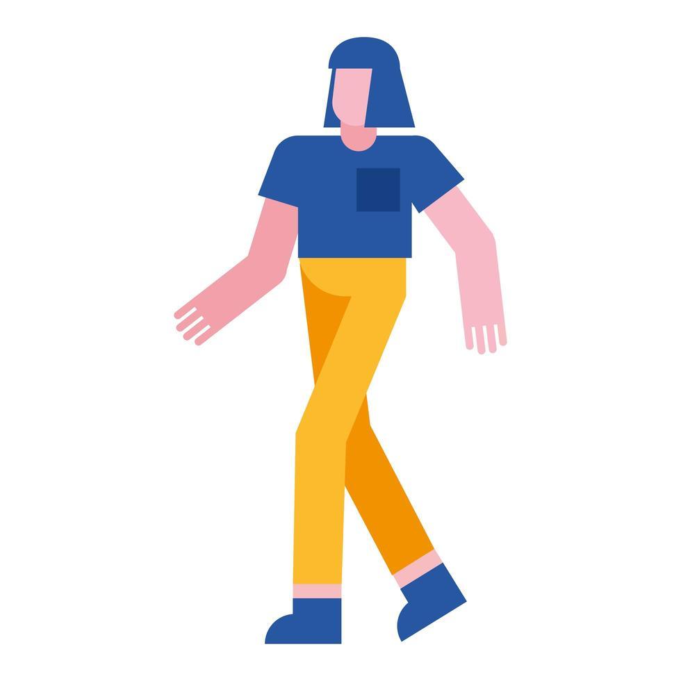 isolated woman cartoon vector design