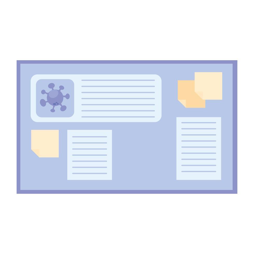 diseño vectorial del tablero de investigación de la vacuna del virus covid 19 vector