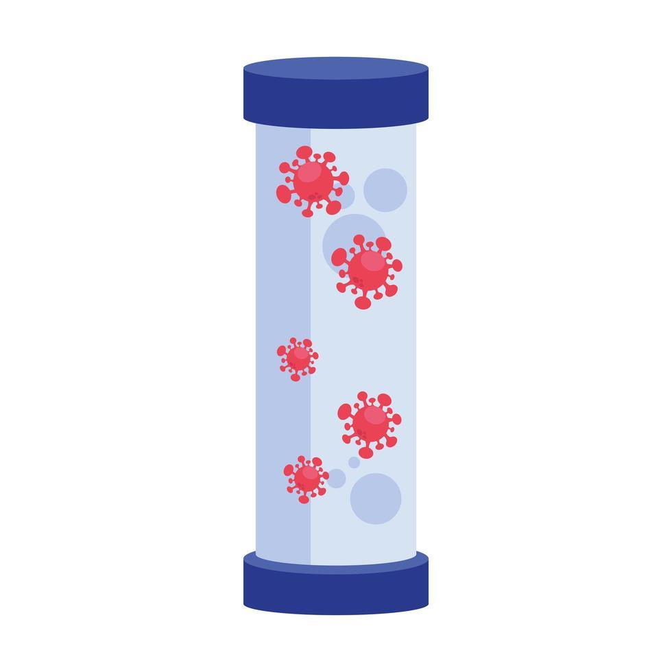 covid 19 virus in jar vector design