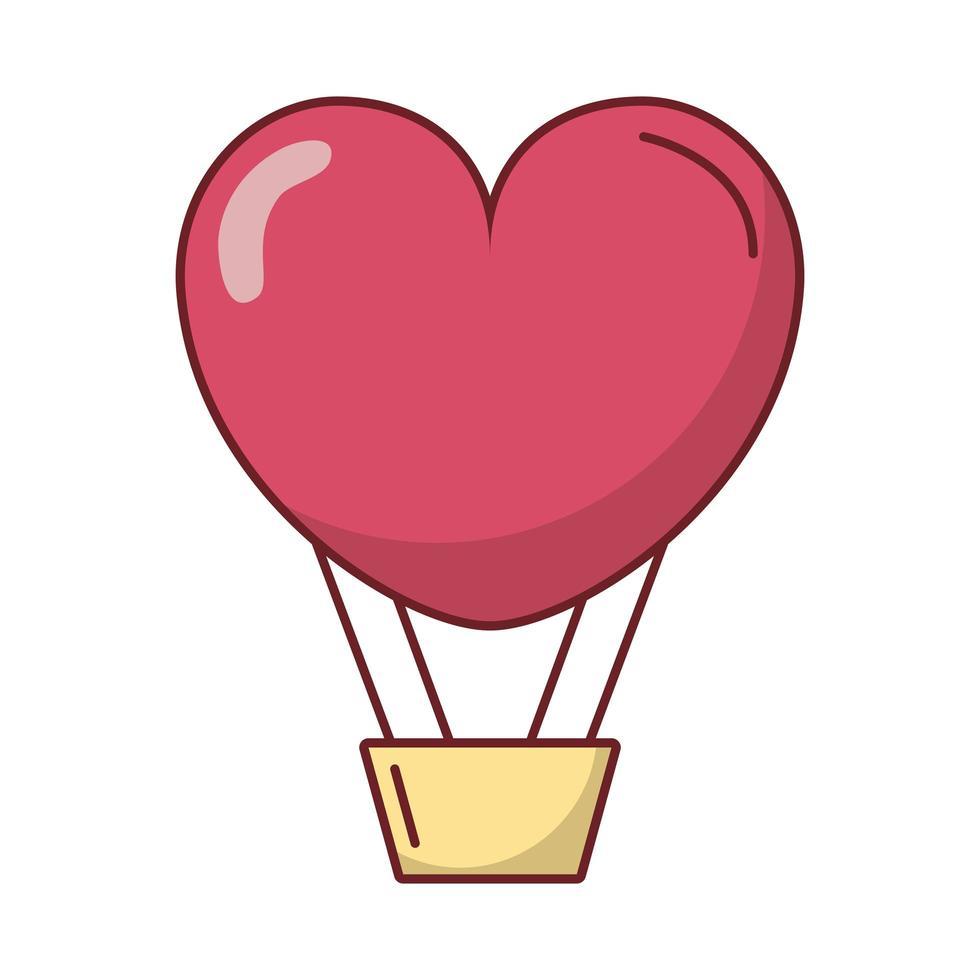 globo aerostático del día de san valentín vector