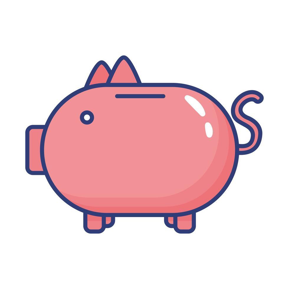 icono de estilo plano de alcancía de ahorro vector