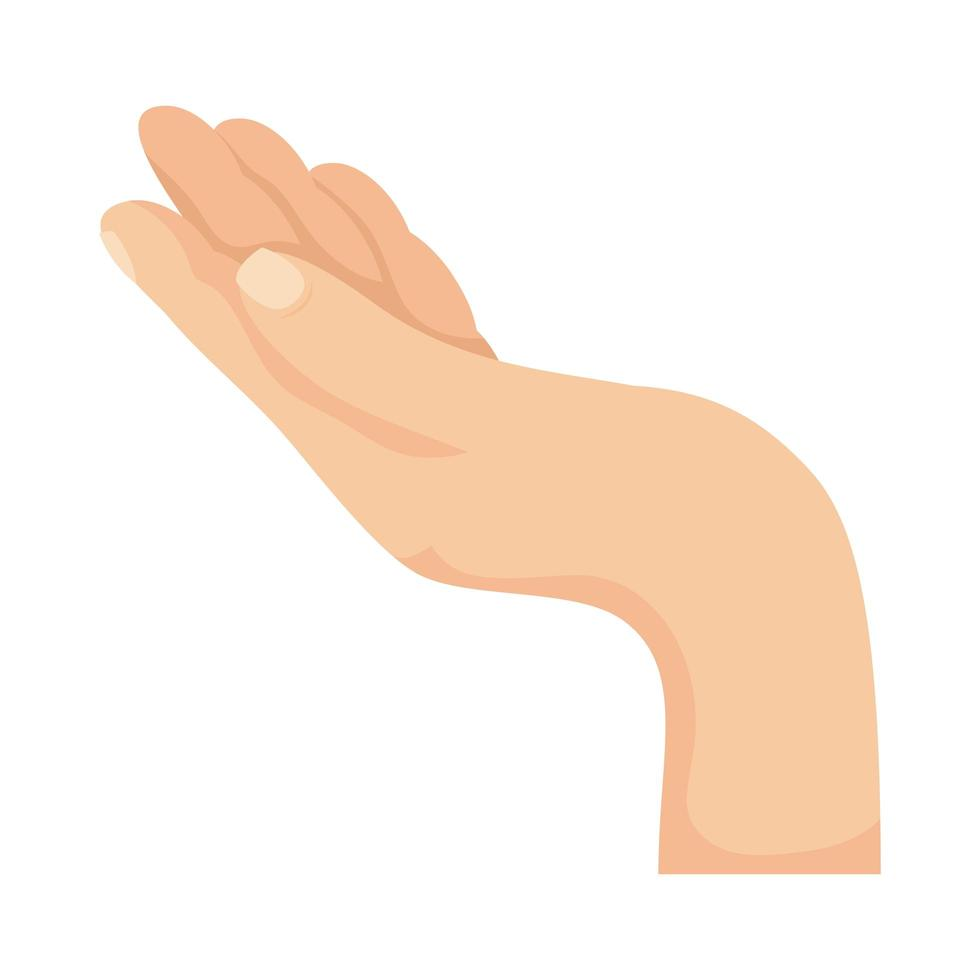 mano humana a punto de recibir algo vector