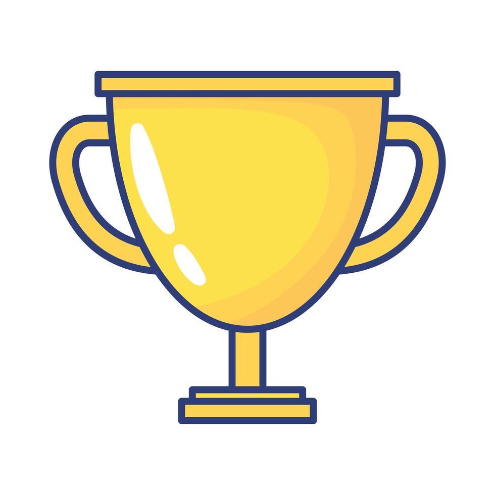 trofeo copa premio icono de estilo plano vector