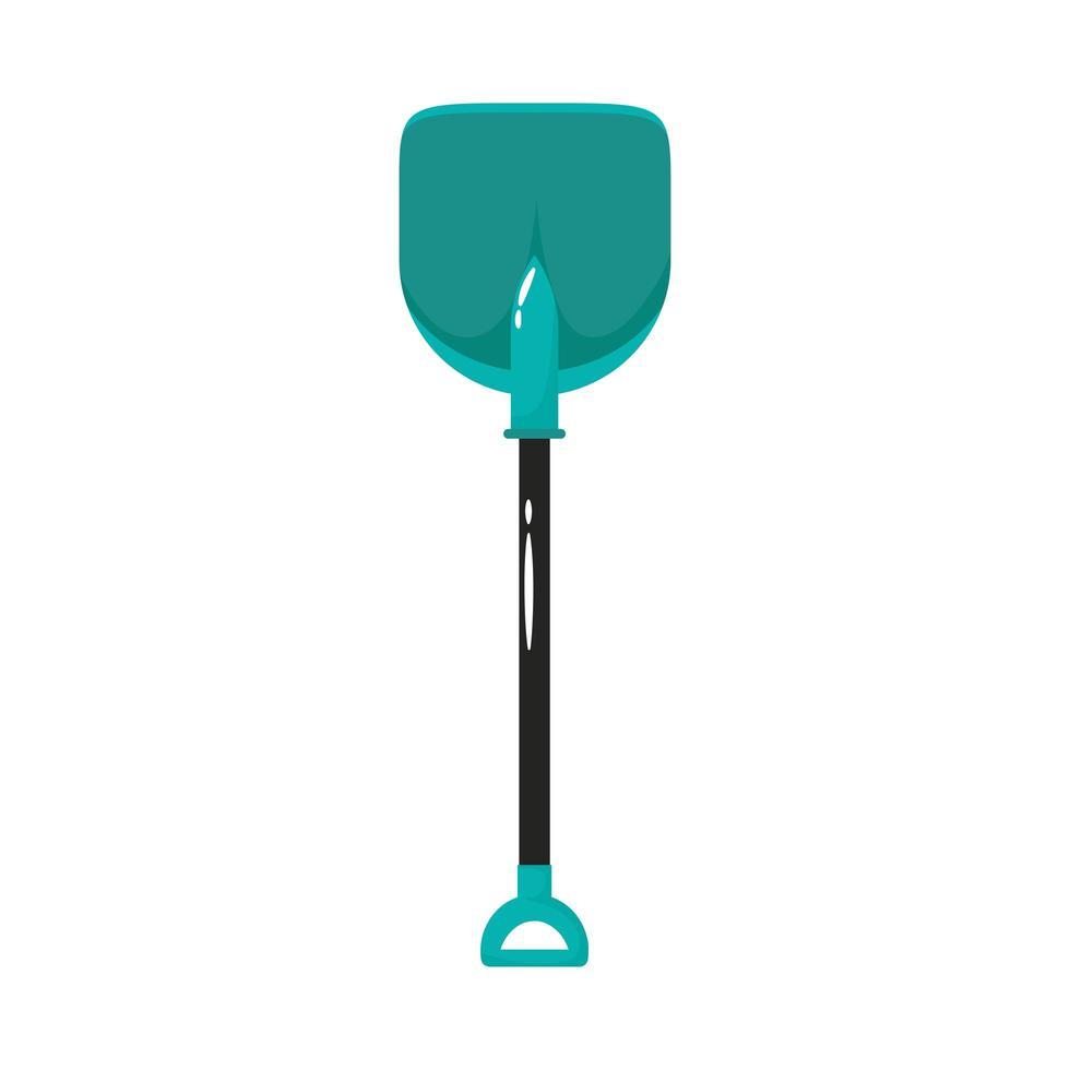 pala herramienta de jardinería estilo plano vector