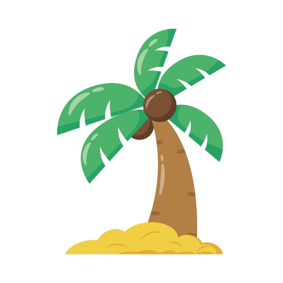 icono de estilo plano de palmera tropical vector