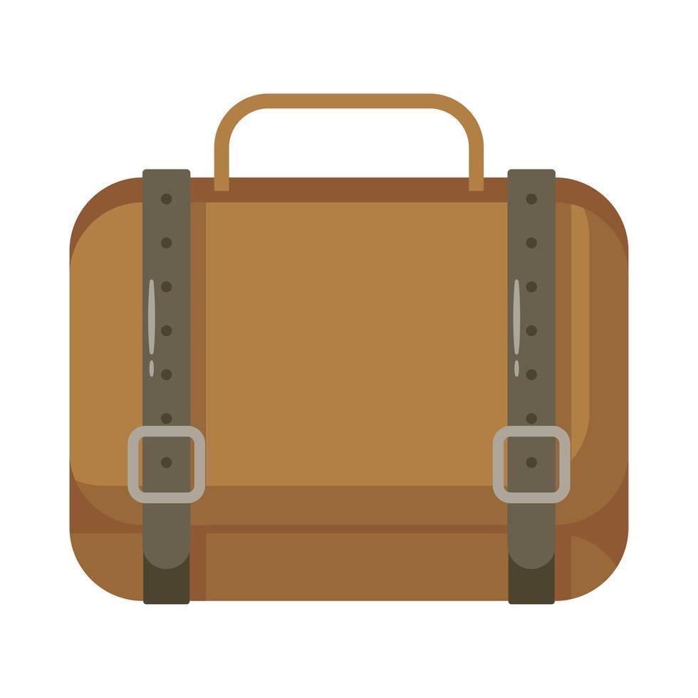 icono de estilo plano de maleta de viaje vector