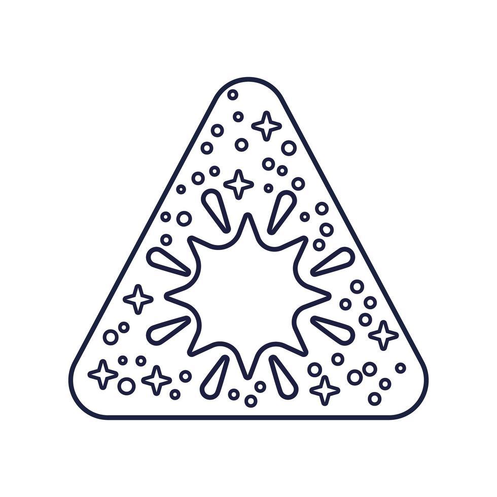 insignia espacial con estilo de línea de estrella vector