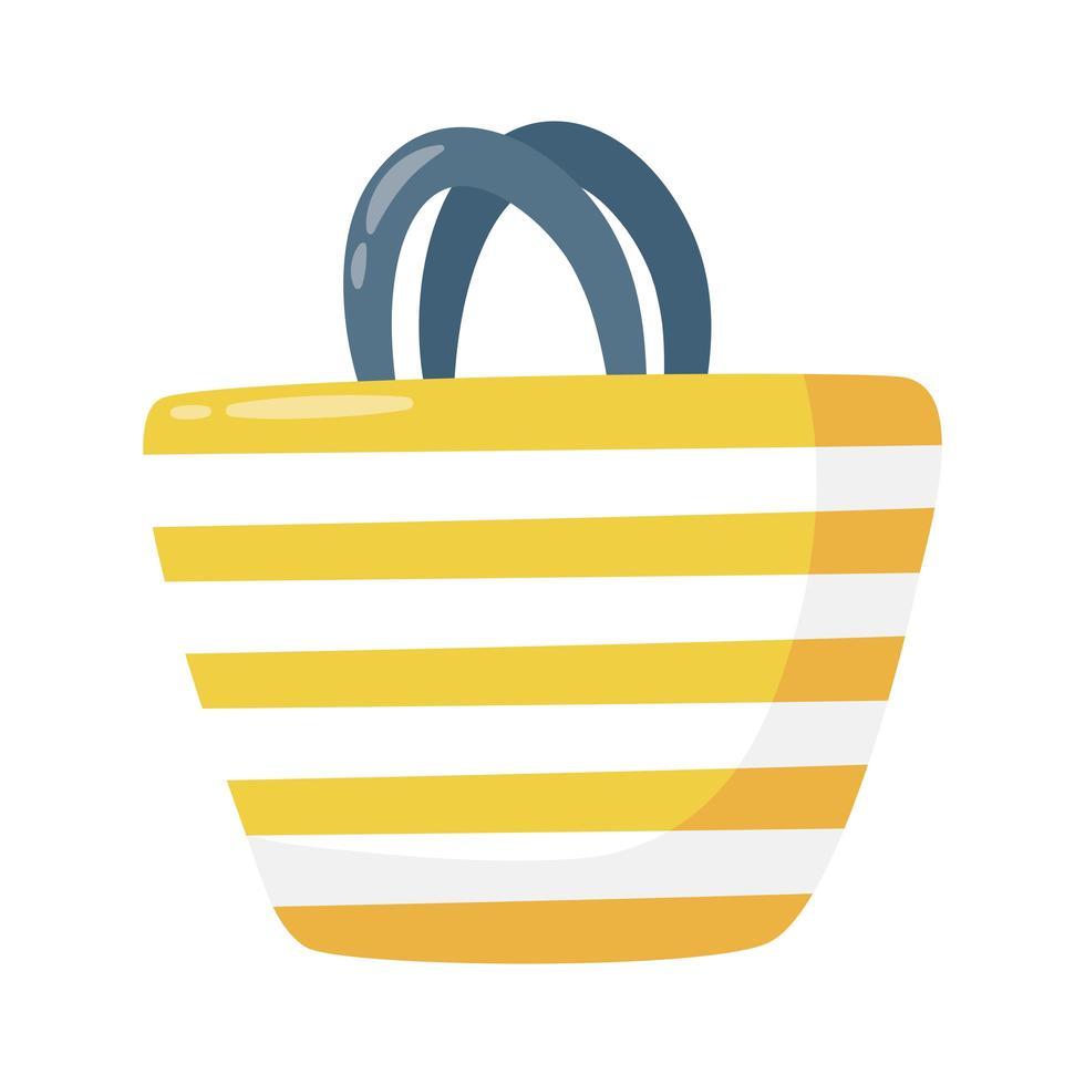 icono de estilo plano de bolsa de verano vector