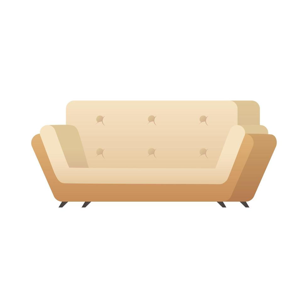 Diseño de ilustración de vector de icono aislado de sofá doble