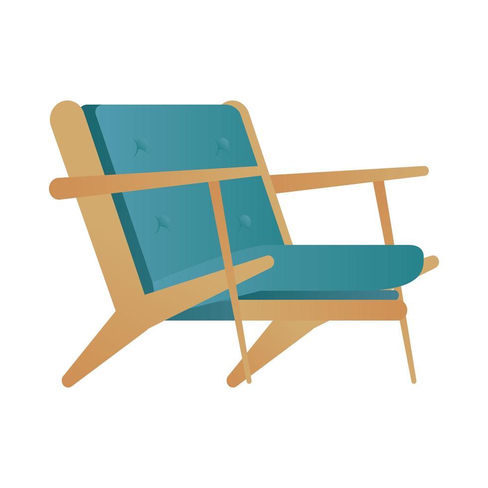 Sofá verde aislado de muebles, diseño de ilustraciones vectoriales vector