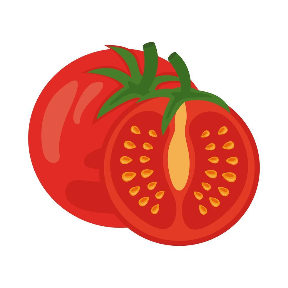 icono de comida sana vegetal de tomate fresco vector