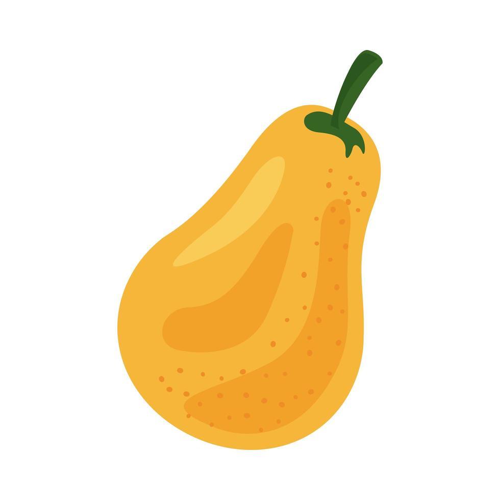 icono de comida sana de fruta fresca de pera amarilla vector