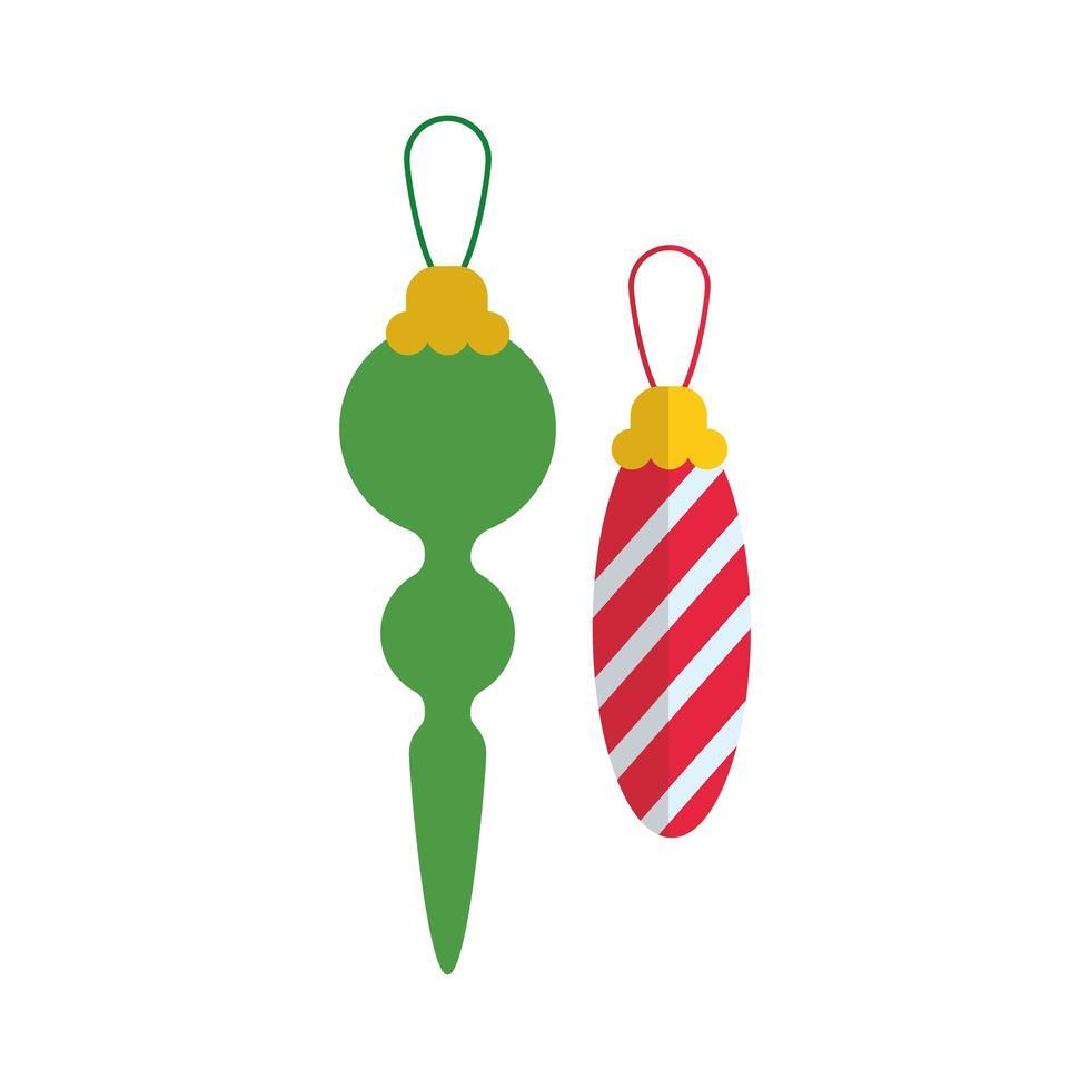 feliz navidad decoraciones icono de estilo plano vector