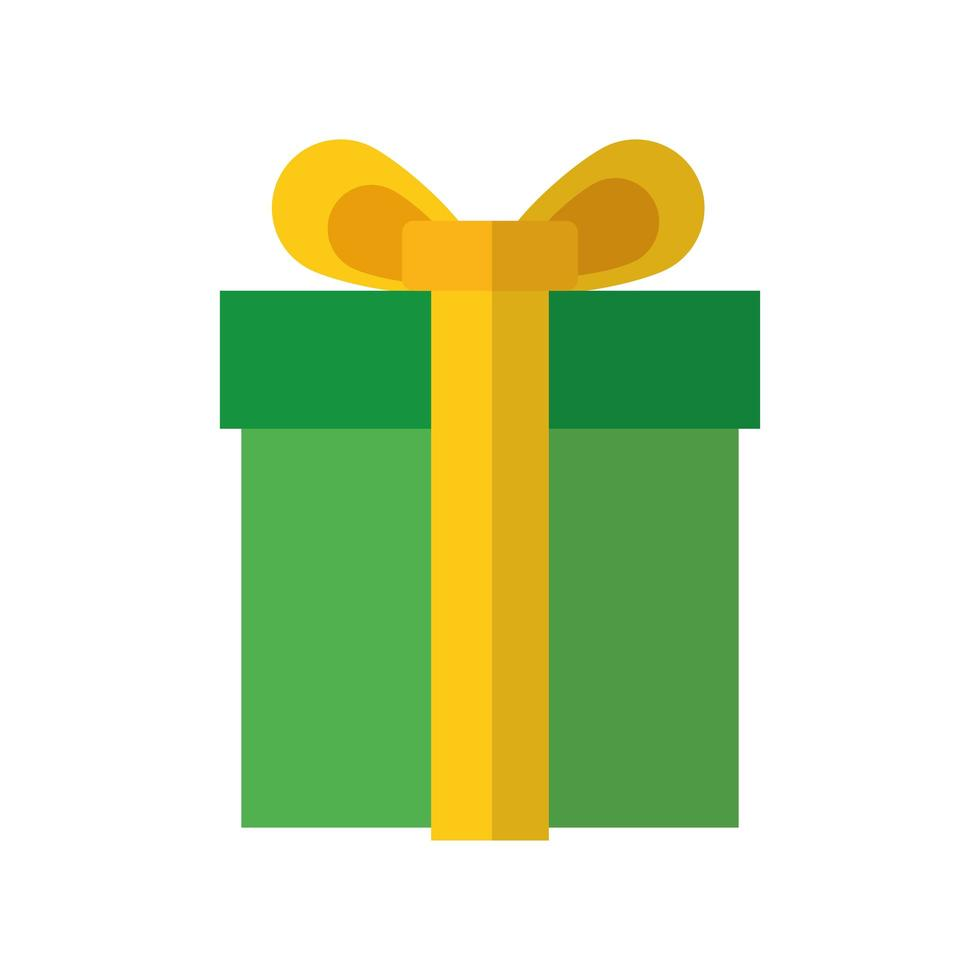 icono de estilo plano de regalo de feliz navidad vector