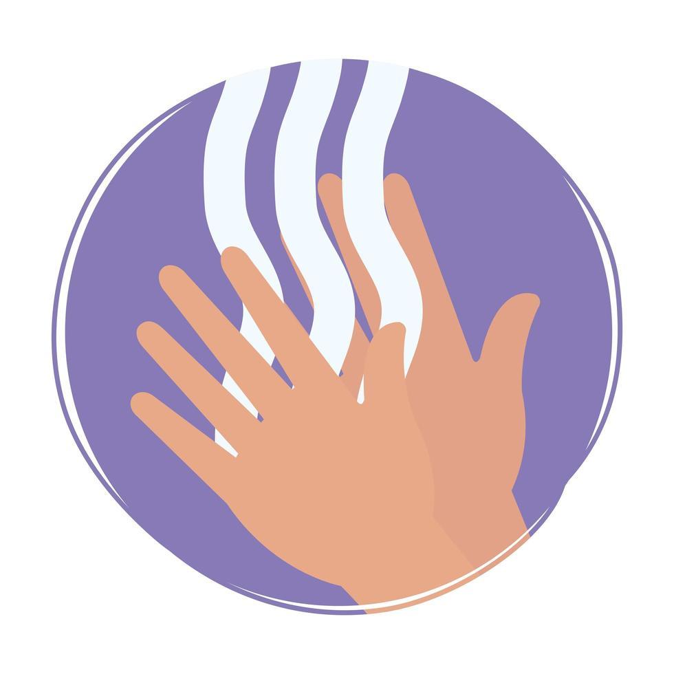 lavado de manos con jabón diseño vectorial vector