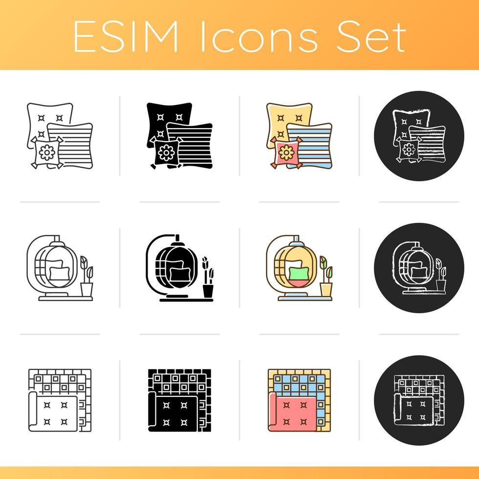 Homeware icons set vector