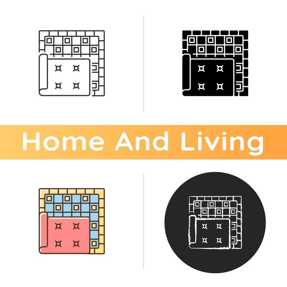 icono de alfombras y tapetes vector