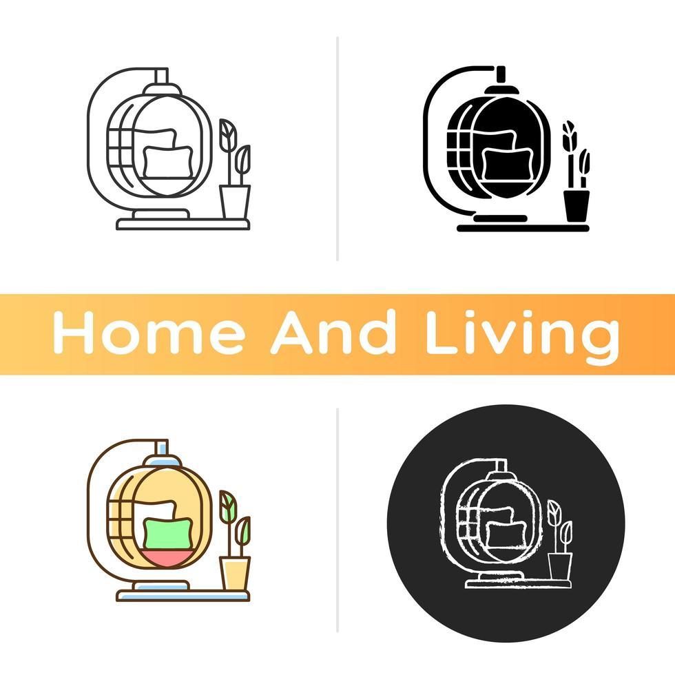 Rustic decor icon vector