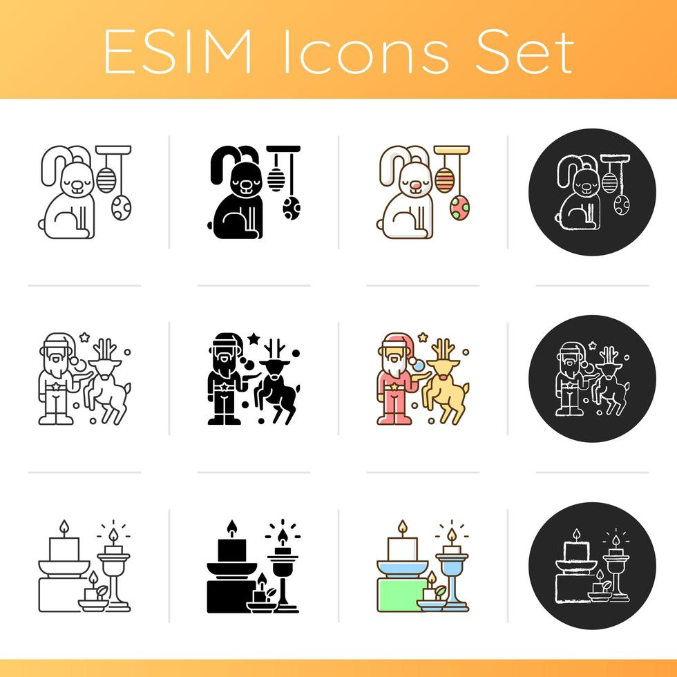 Homeware and furniture icons set vector