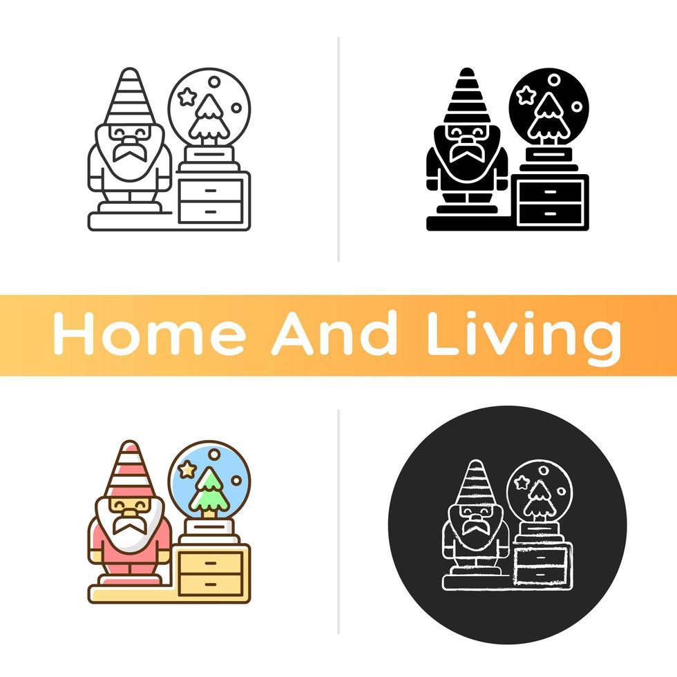 Decorative figurines icon vector