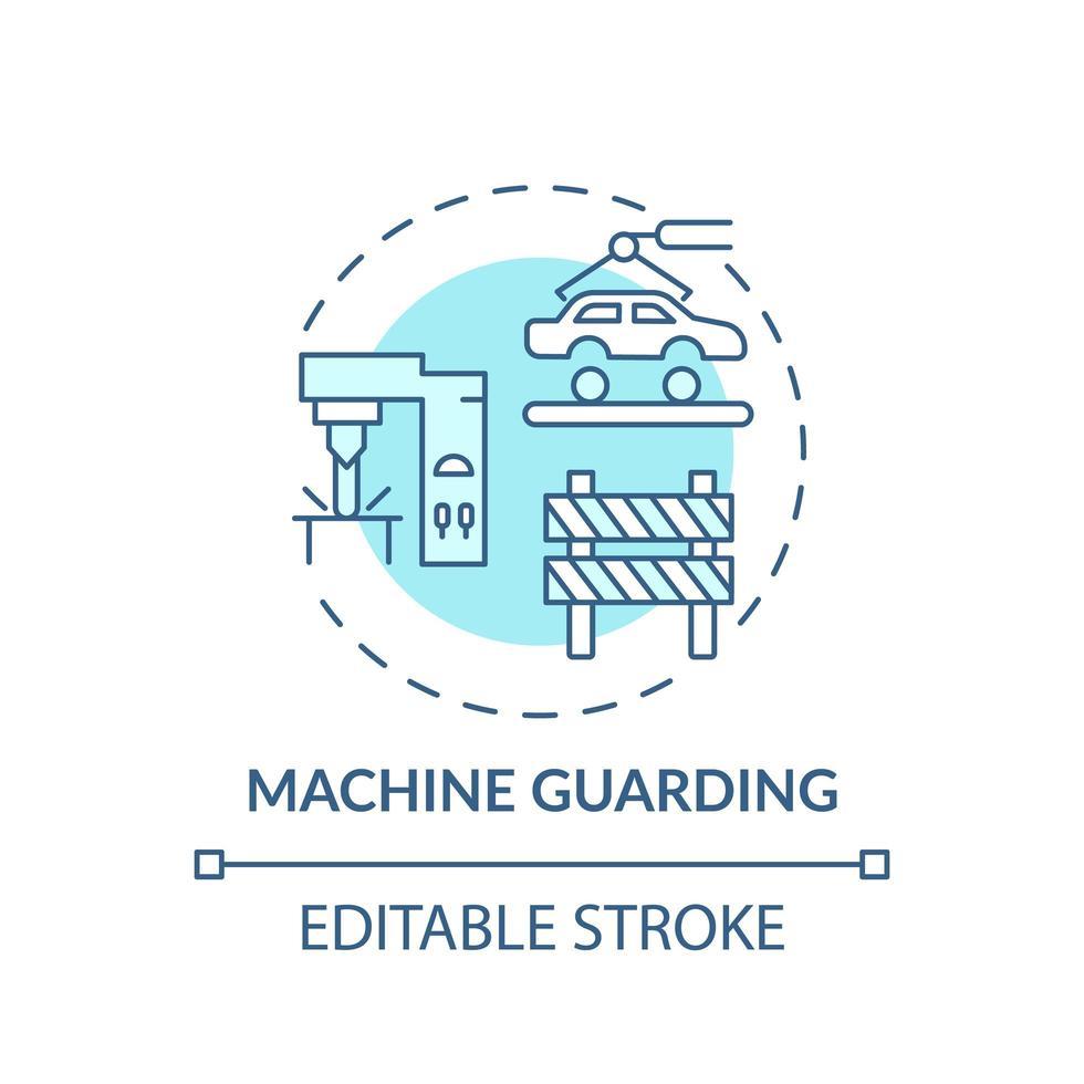 icono de concepto de protección de máquinas vector