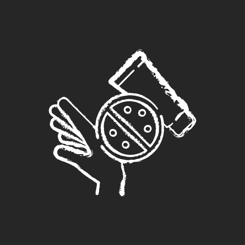 Skin rash cream chalk white icon on black background vector