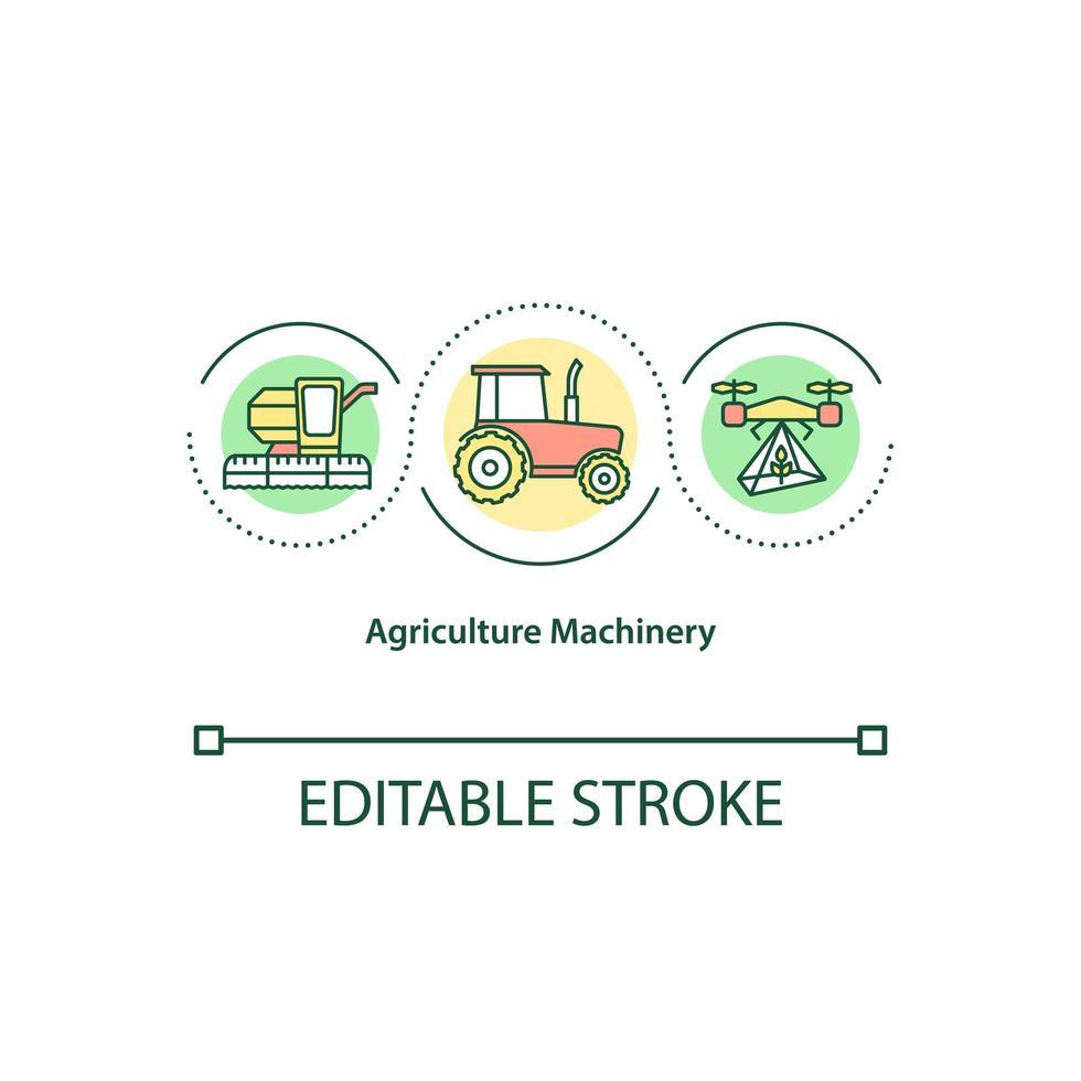 icono de concepto de maquinaria agrícola vector