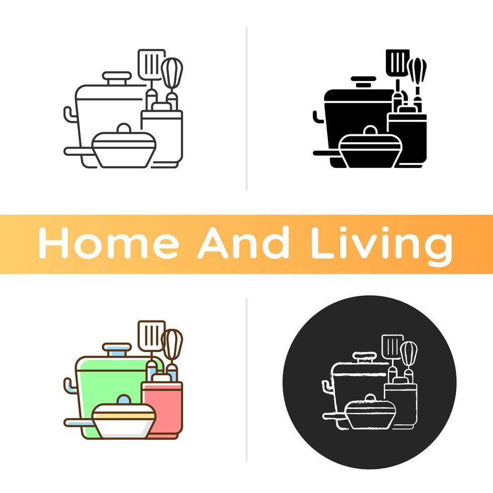 icono de herramientas de cocina vector