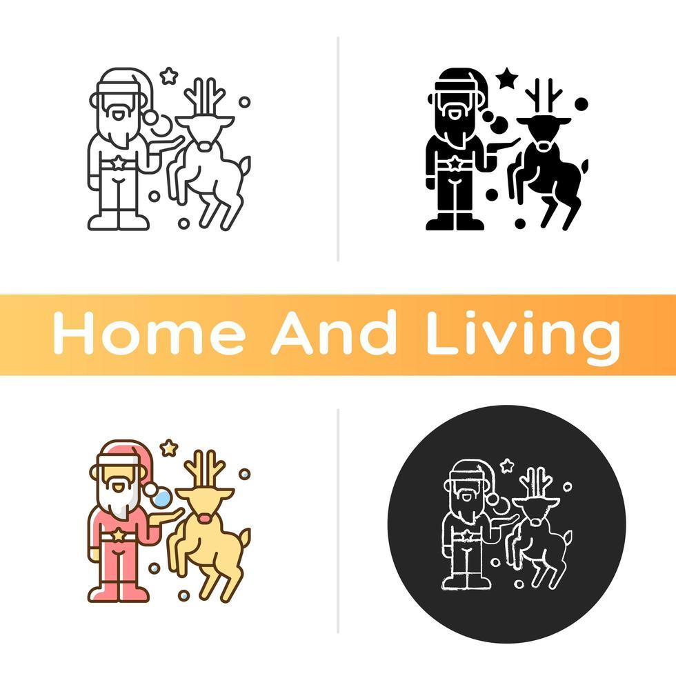 Christmas decor icon vector