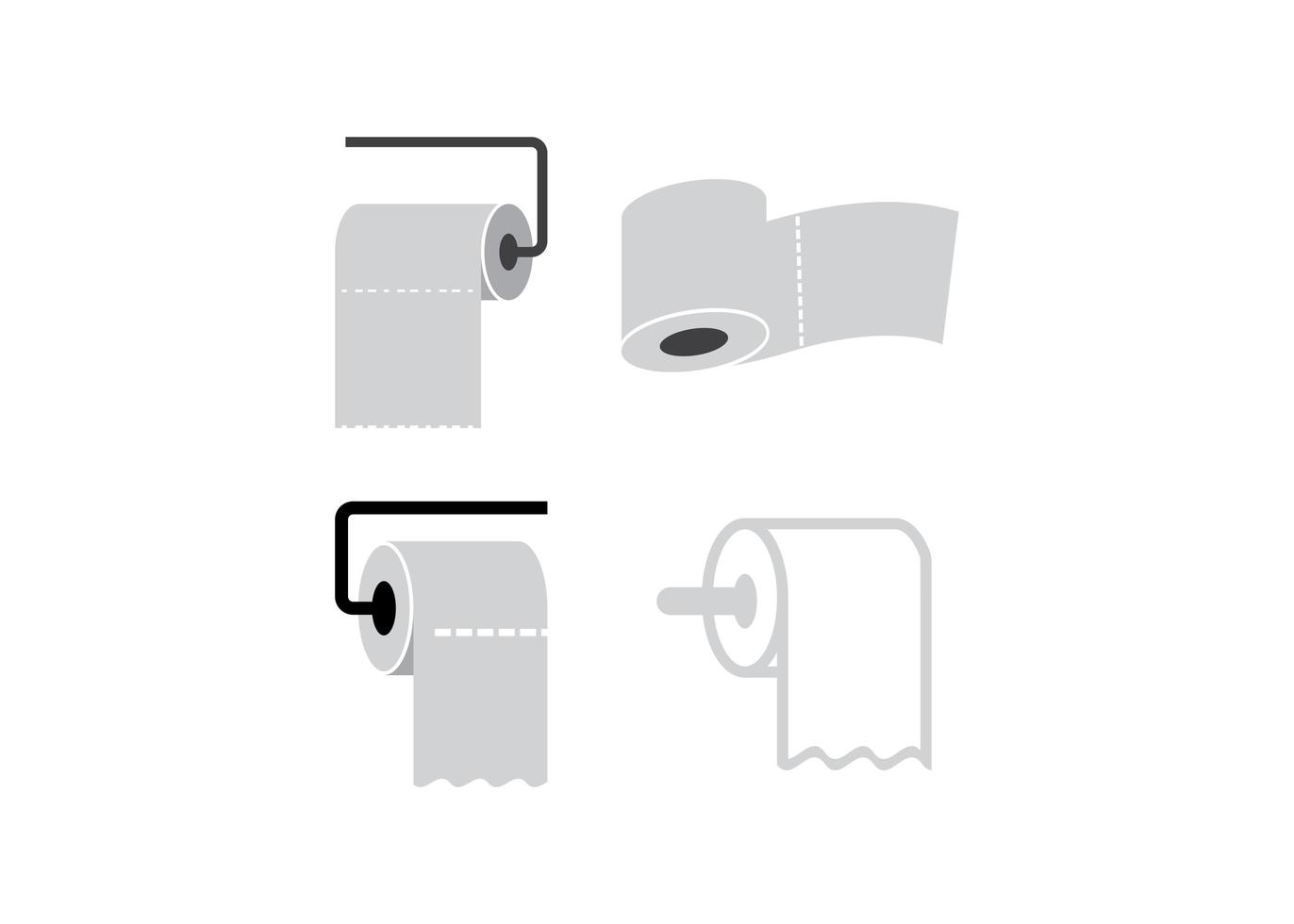 Toilet paper icon design template vector isolated