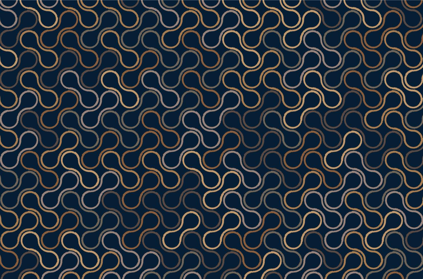 Metaballs Brown Outline Pattern vector