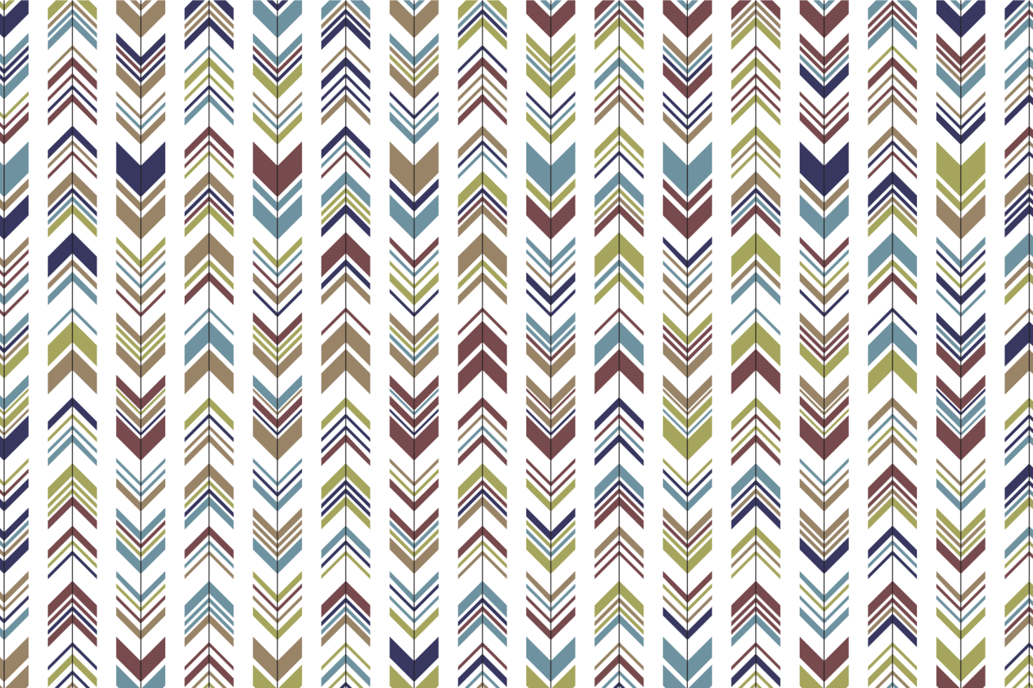 Colorful Arrows Fabric Pattern vector