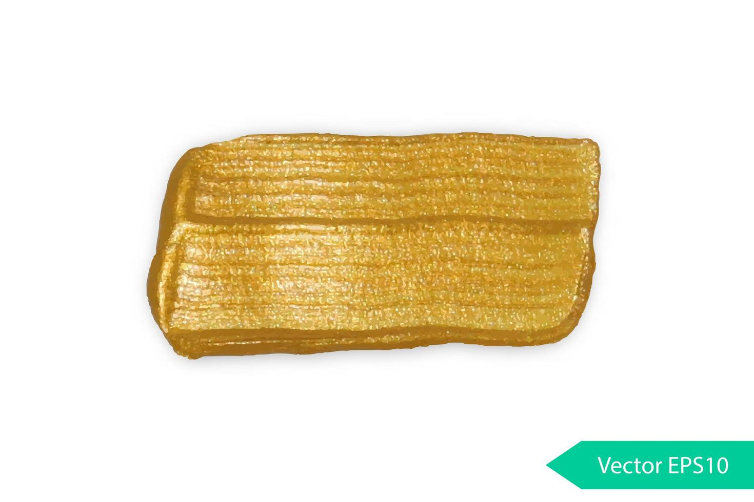 Golden acrylic brush stroke stain vector