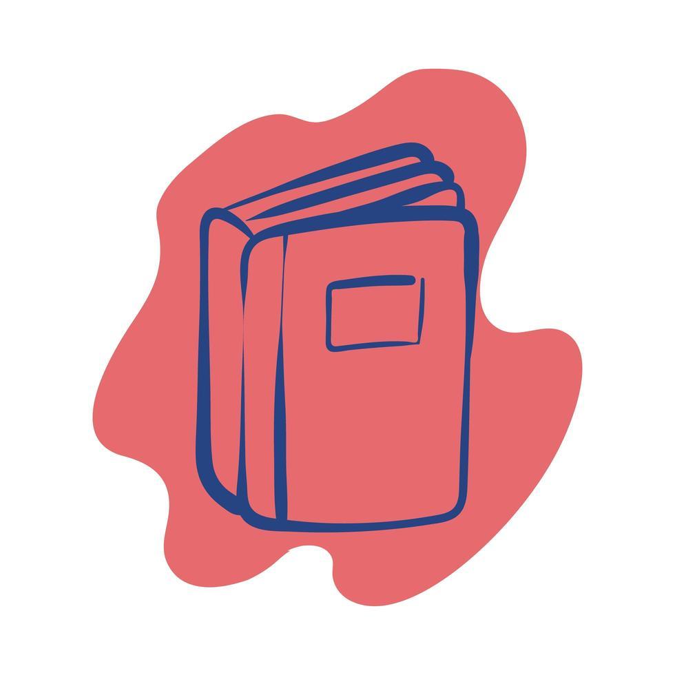 icono de estilo de línea de libro de texto vector