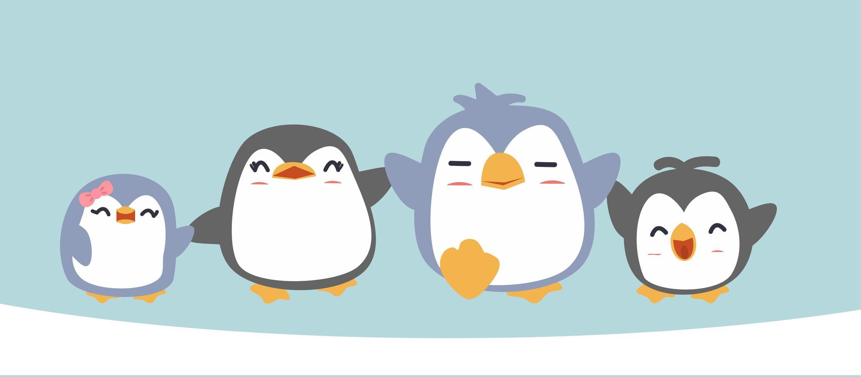 Cartoon Happy Penguin Family Download Free Vectors Clipart Graphics Vector Art