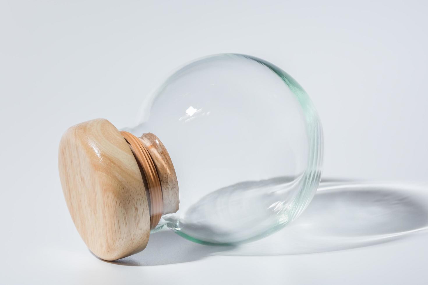 Sphere shaped glass jar photo
