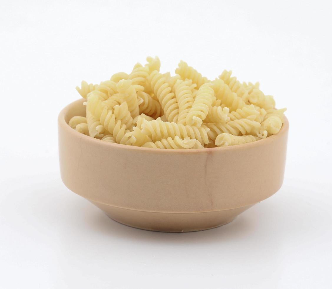 Fresh and healthy raw pasta photo