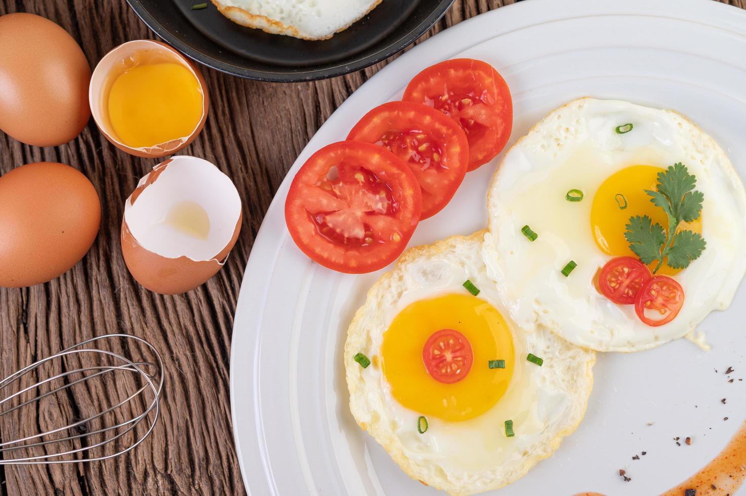 Fried egg breakfast photo