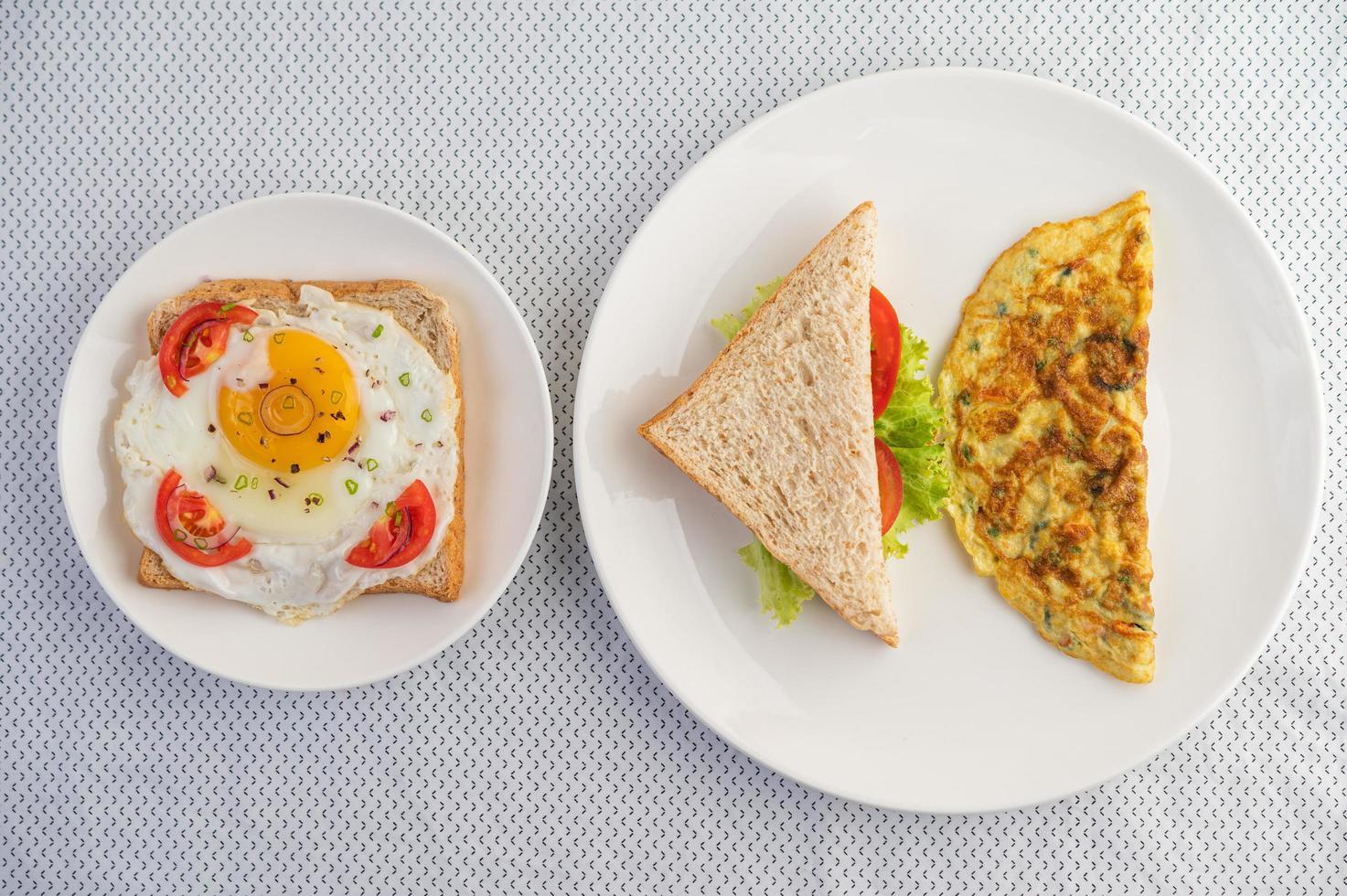 tortillas y huevos fritos foto