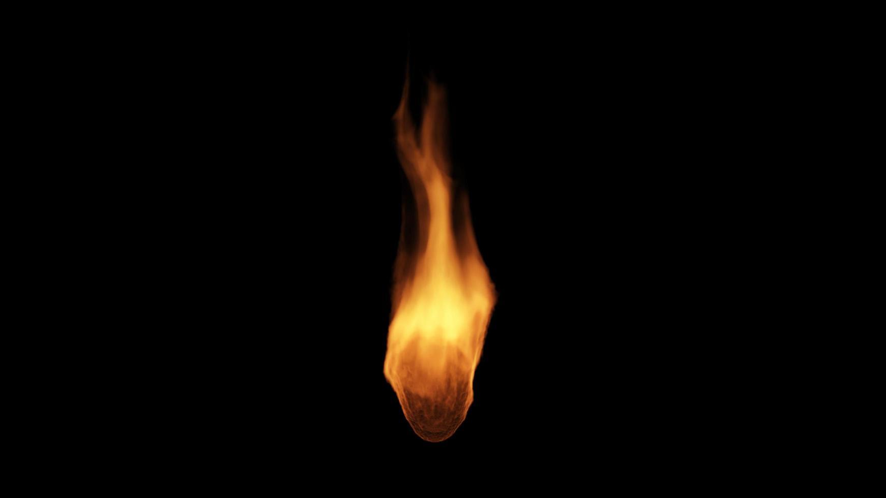 fuego ardiendo sobre fondo negro foto