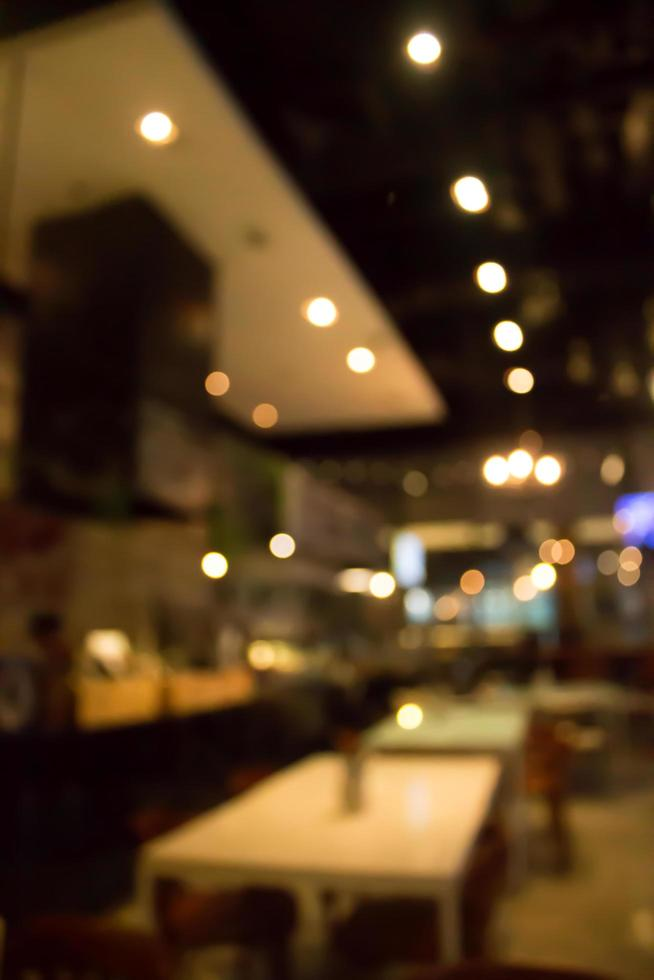 Escena borrosa del restaurante foto