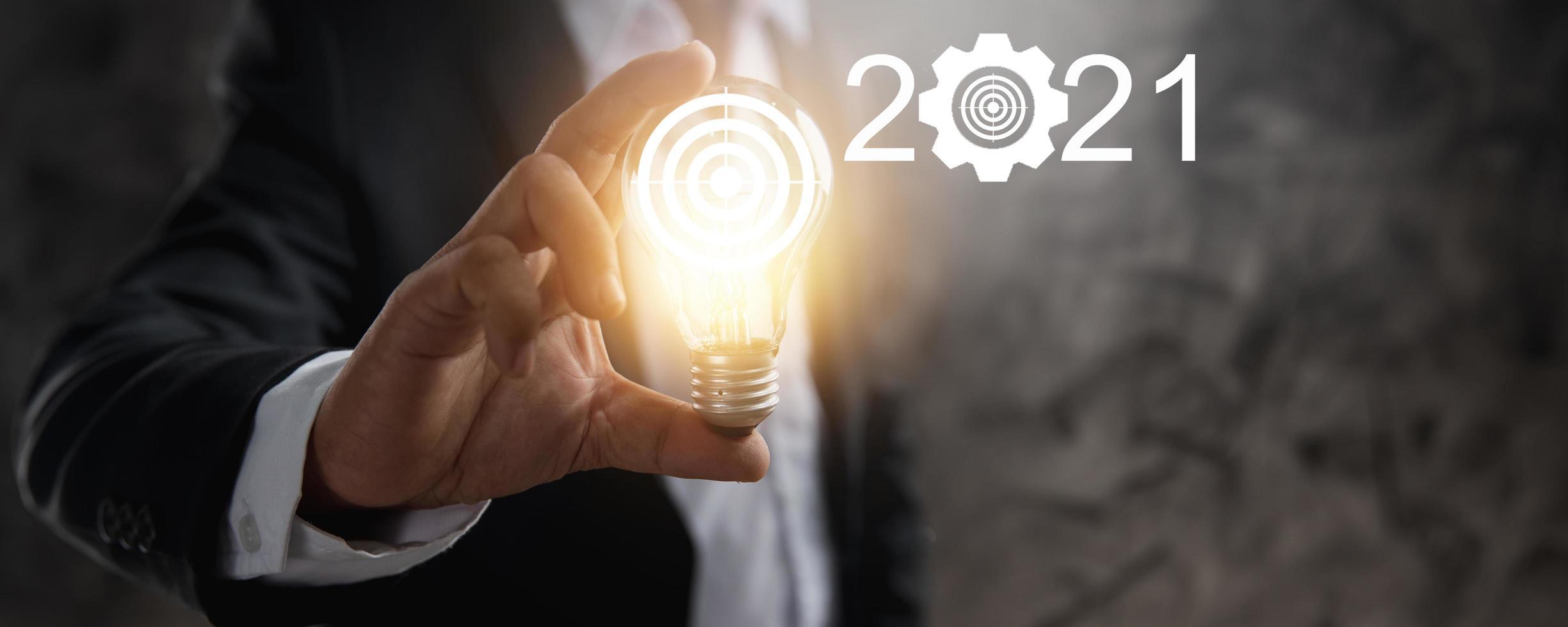 2021 innovación y concepto de idea. foto