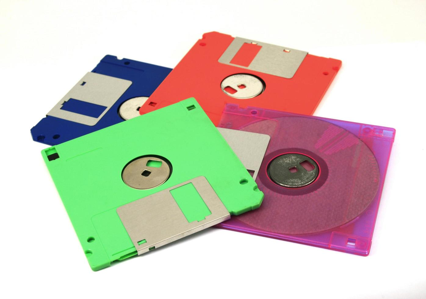 disquetes de colores foto