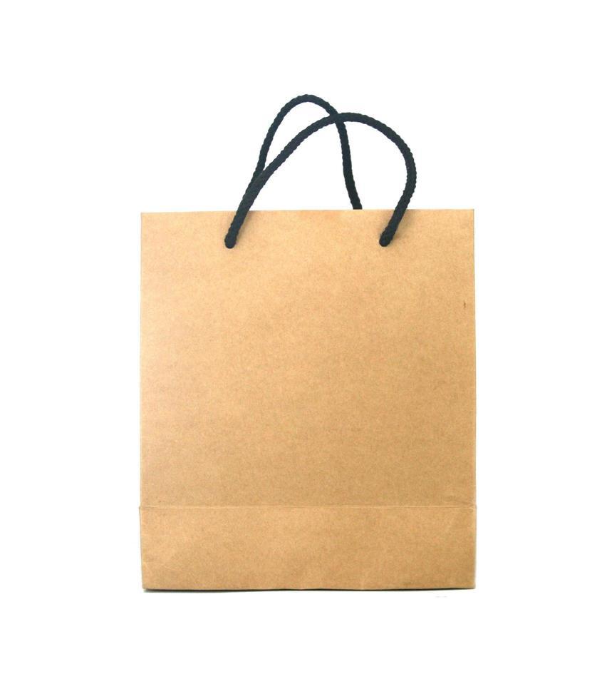 bolsa en blanco foto
