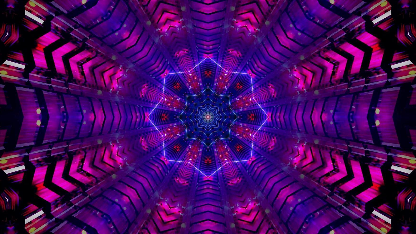 estrella túnel abstracto 3d ilustración fondo papel pintado diseño obra de arte foto
